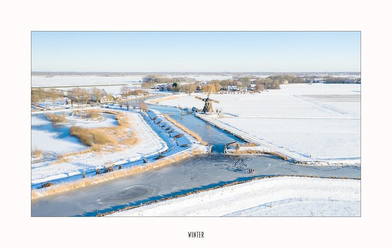 Winter landscape - Drone